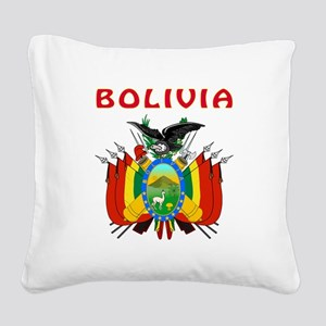 Bolivia Coat of arms Square Canvas Pillow