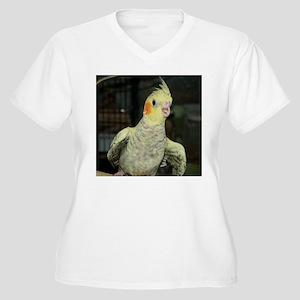 Baby Tiel Women's Plus Size V-Neck T-Shirt