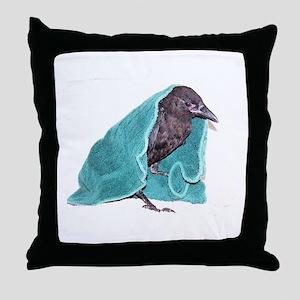 Crow Rescue Throw Pillow