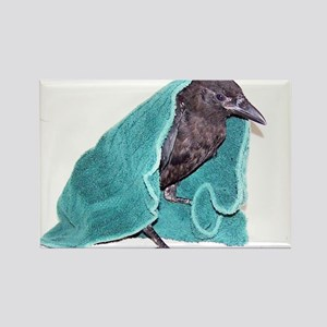Crow Rescue Rectangle Magnet