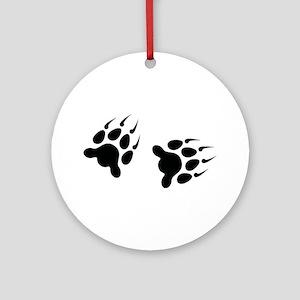Bear Tracks Ornament (Round)