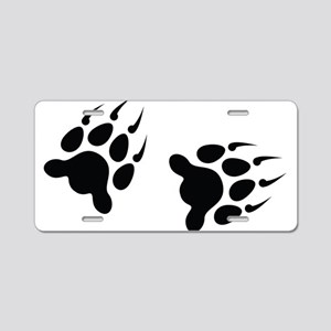Bear Tracks Aluminum License Plate