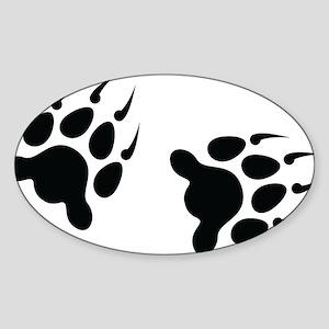 Bear Tracks Sticker (Oval)
