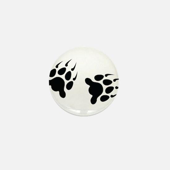 Bear Tracks Mini Button