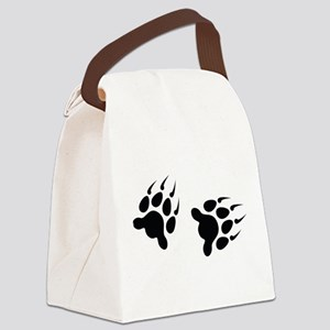 Bear Tracks Canvas Lunch Bag