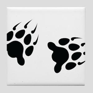 Bear Tracks Tile Coaster