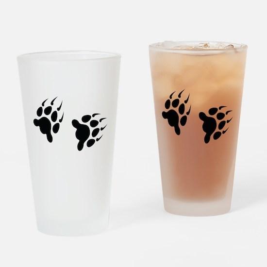 Bear Tracks Drinking Glass