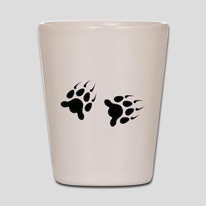 Bear Tracks Shot Glass