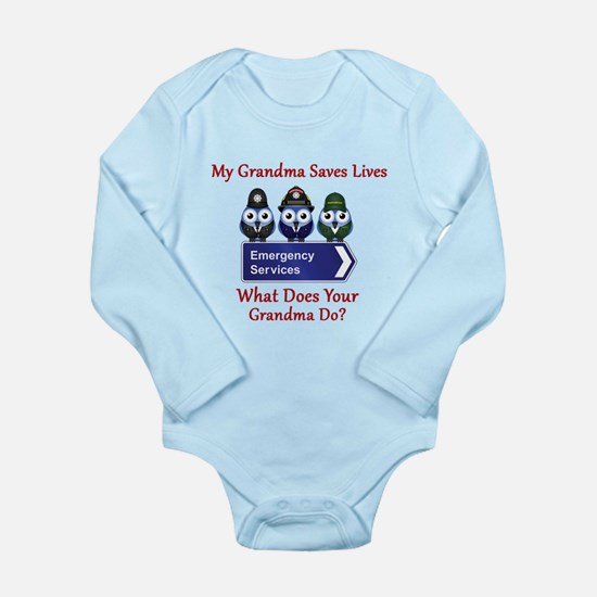 What Does Your Grandma Do? Long Sleeve Infant Body