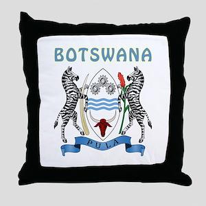 Botswana Coat of arms Throw Pillow