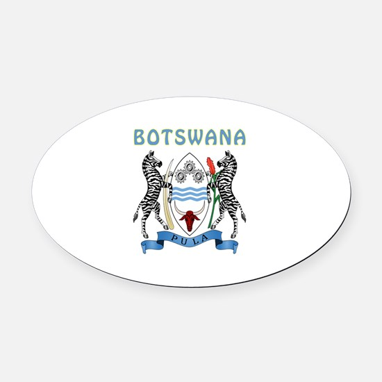 Botswana Coat of arms Oval Car Magnet