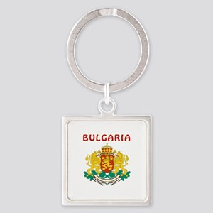 Bulgaria Coat of arms Square Keychain