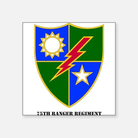 75th Ranger Regimental Crest Rectangle Sticker