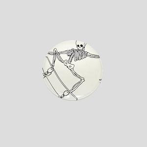Skater Skeleton Mini Button