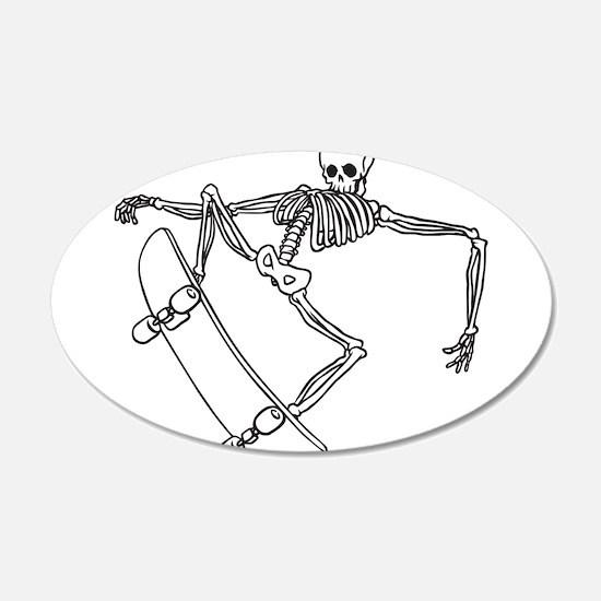 Skater Skeleton Wall Decal