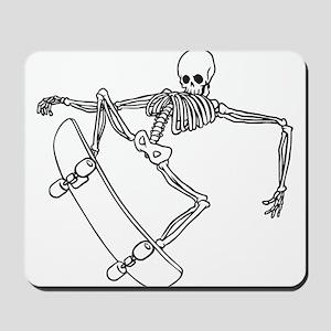 Skater Skeleton Mousepad