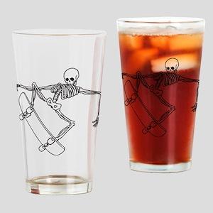 Skater Skeleton Drinking Glass