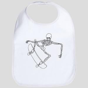 Skater Skeleton Bib