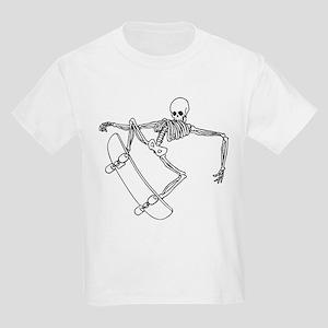 Skater Skeleton Kids Light T-Shirt
