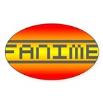 Fanime Oval Sticker