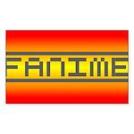 Fanime Rectangle Sticker