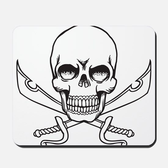 Skull and Swords Mousepad