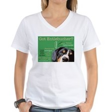 Got Entlebucher? Woof Cloud Green Women's V-Neck T