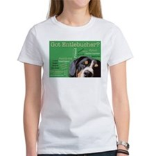 Got Entlebucher? Woof Cloud Green Women's T-Shirt