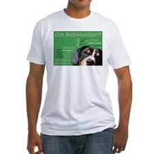 Got Entlebucher? Woof Cloud Green Fitted T-Shirt