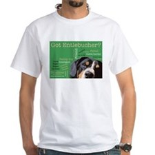 Got Entlebucher? Woof Cloud Green White T-Shirt