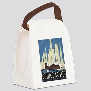 Chicago Waterfront Canvas Lunch Bag