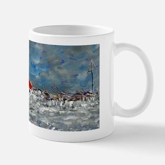 Storm Destroys Lighthouse Mug