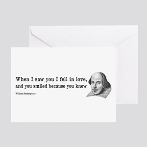 Shakespeare on Love (Hamlet) Greeting Card