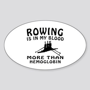 Rowing Designs Sticker (Oval)