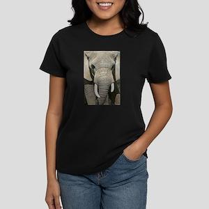 Elephant Face Women's Dark T-Shirt