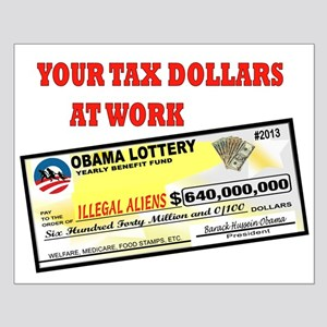 OBAMA LOTTERY Small Poster