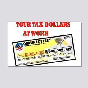 OBAMA LOTTERY 20x12 Wall Decal
