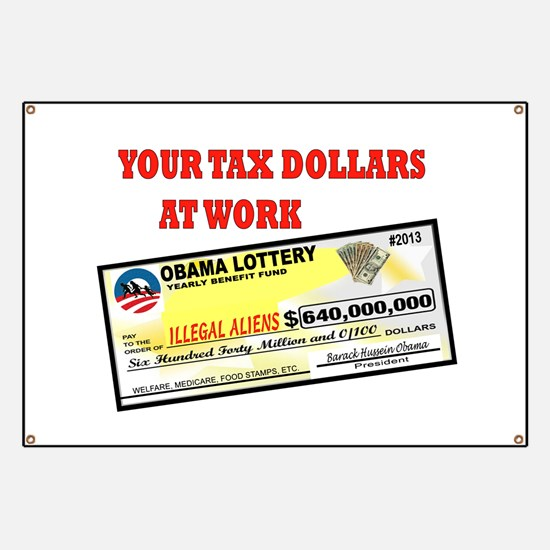 OBAMA LOTTERY Banner