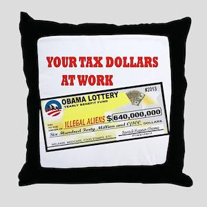 OBAMA LOTTERY Throw Pillow