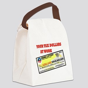 OBAMA LOTTERY Canvas Lunch Bag