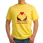 Love Rocks Hearts Yellow T-Shirt