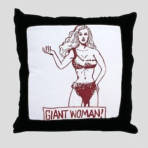 Giant Woman Throw Pillow