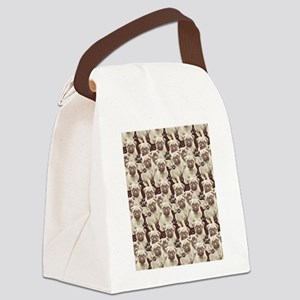 pug mural Canvas Lunch Bag