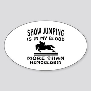 Show Jumping Designs Sticker (Oval)