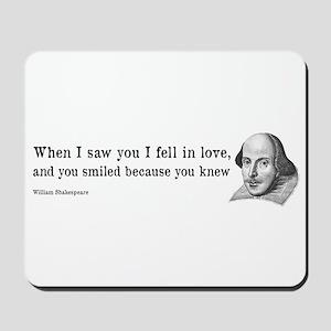 Shakespeare on Love (Hamlet) Mousepad