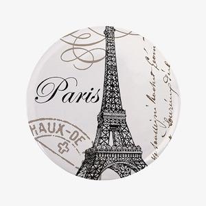 """Vintage Eiffel Tower 3.5"""" Button"""