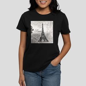 Vintage Eiffel Tower Women's Dark T-Shirt