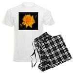 Yellow rose Men's Light Pajamas