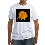 Yellow rose Fitted T-Shirt