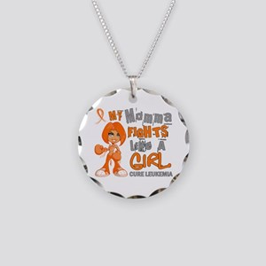 Licensed Fight Like a Girl 4 Necklace Circle Charm